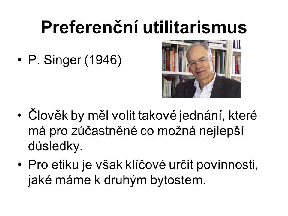 Preferenční utilitarismus P.