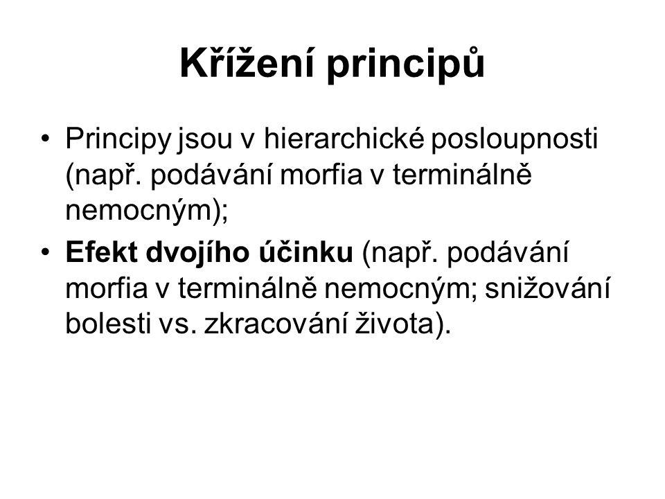 Křížení principů Principy jsou v hierarchické posloupnosti (např.