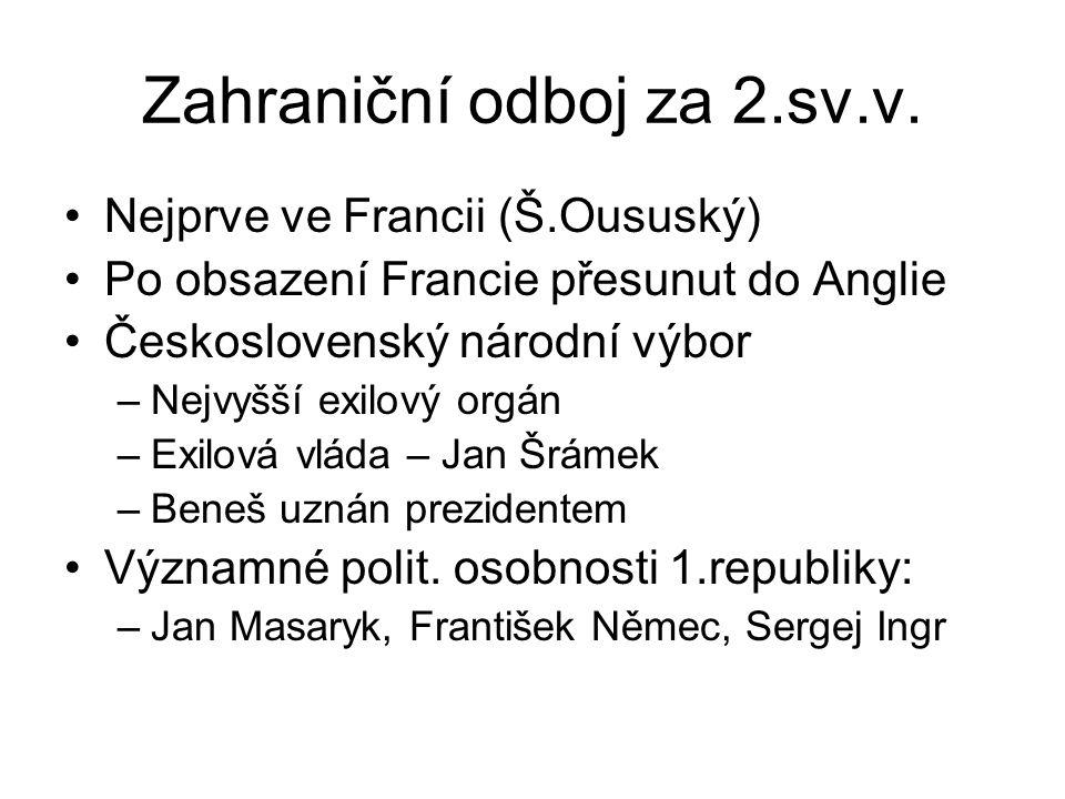 Zahraniční odboj za 2.sv.v.