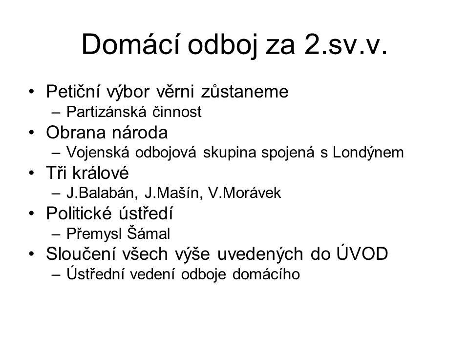 Domácí odboj za 2.sv.v.