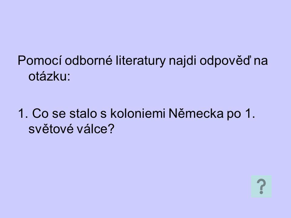 Pomocí odborné literatury najdi odpověď na otázku: 1.