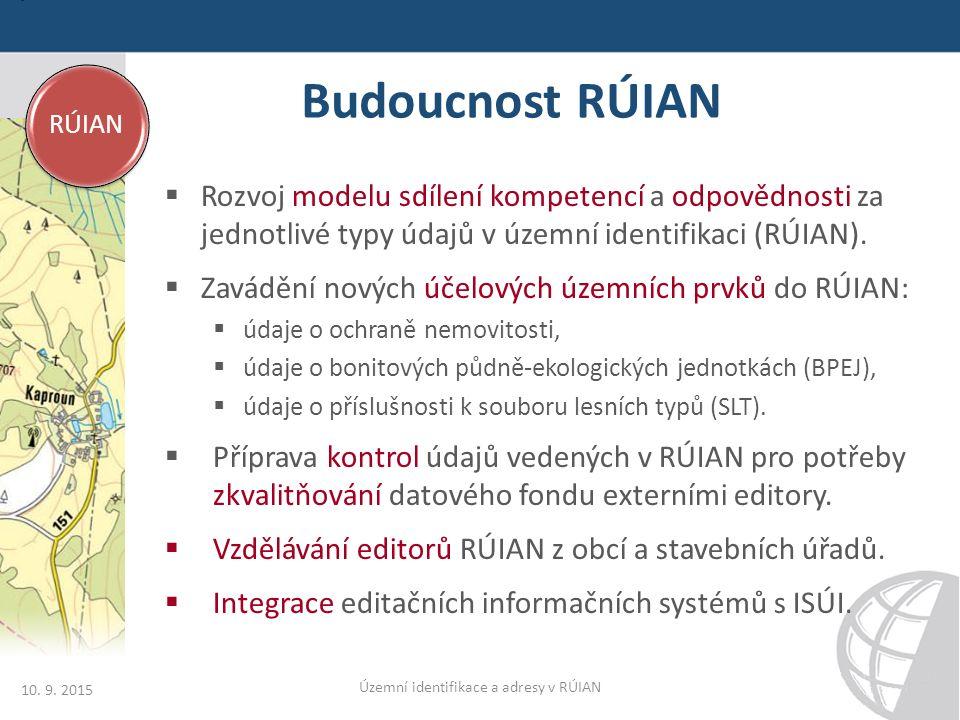 Budoucnost RÚIAN 10. 9.