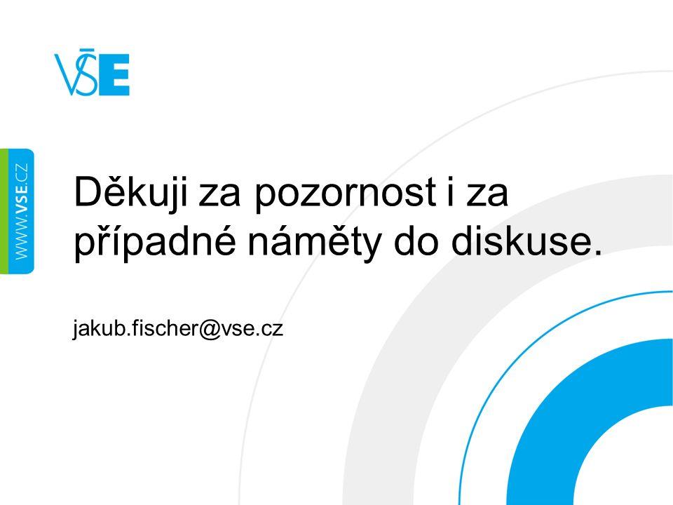 Děkuji za pozornost i za případné náměty do diskuse. jakub.fischer@vse.cz
