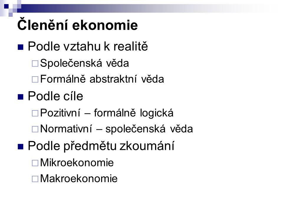Ekonomické systémy Zvykový systém (custom) Příkazová ekonomika (command) Tržní ekonomika (market) Smíšená ekonomika