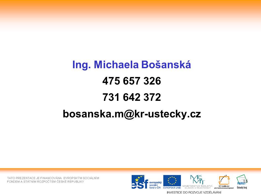 18 Ing. Michaela Bošanská 475 657 326 731 642 372 bosanska.m@kr-ustecky.cz