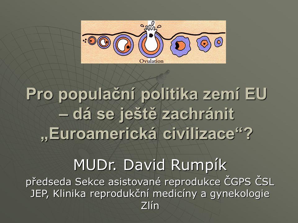 """Pro populační politika zemí EU – dá se ještě zachránit """"Euroamerická civilizace ."""