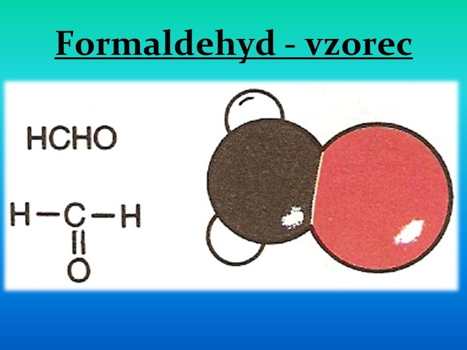 Formaldehyd - vzorec