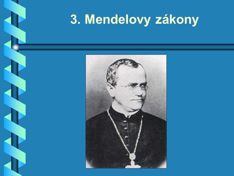 3. Mendelovy zákony