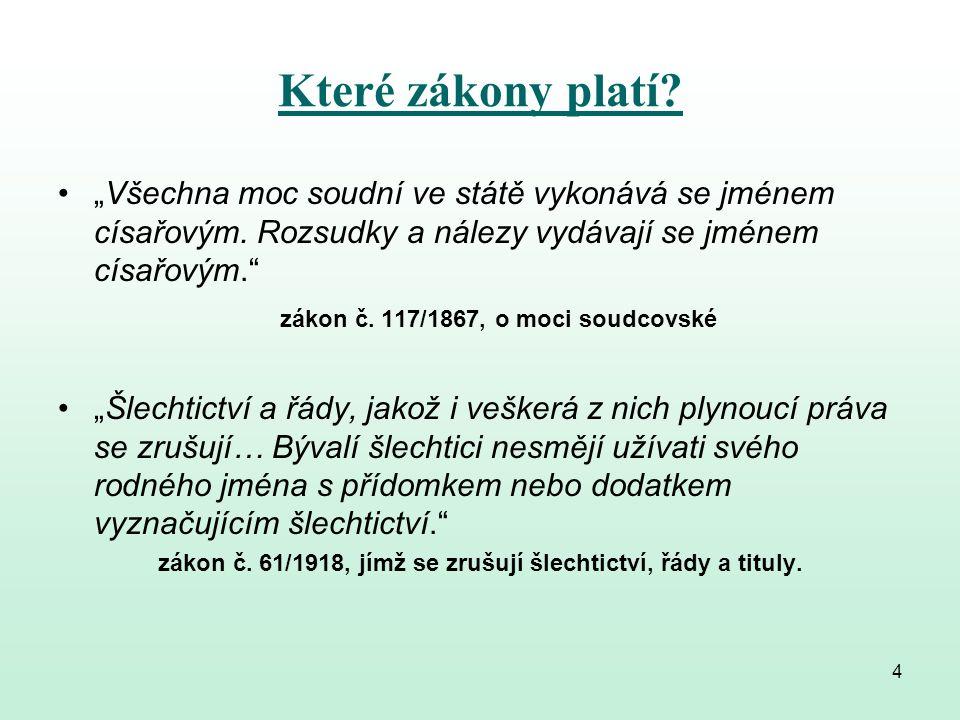 Legislativní odpad  nikdo neví, kolik je v ČR platných zákonů  počet rušených zákonů je nižší, než počet nově přijímaných zákonů  zbytečné rušení zažitých právních předpisů a jejich nahrazování novými, špatně napsanými předpisy 5