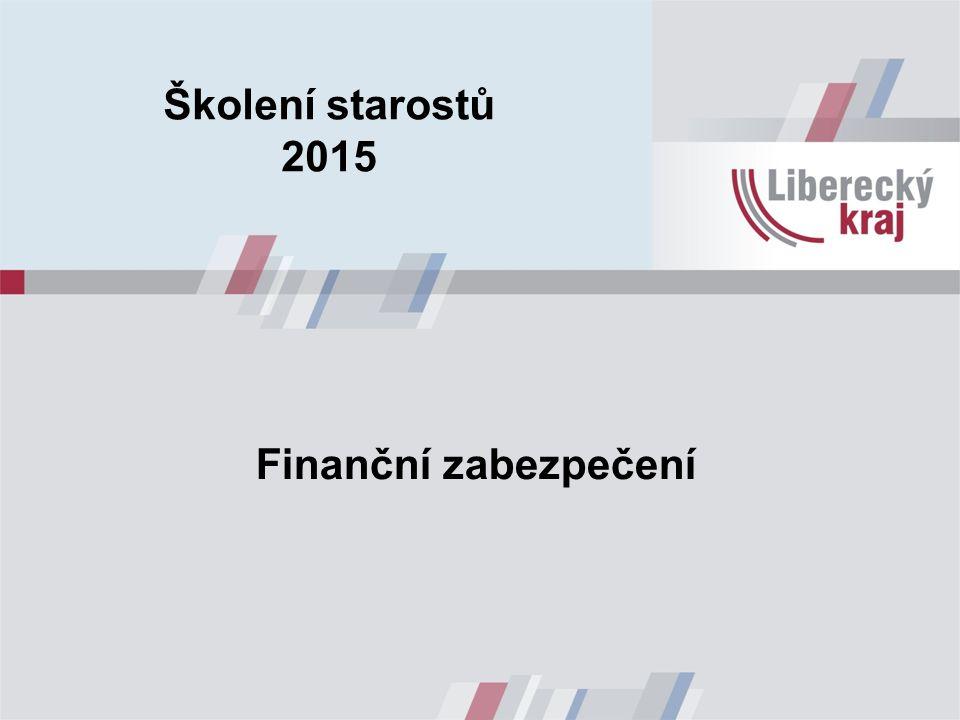 Finanční zabezpečení Školení starostů 2015