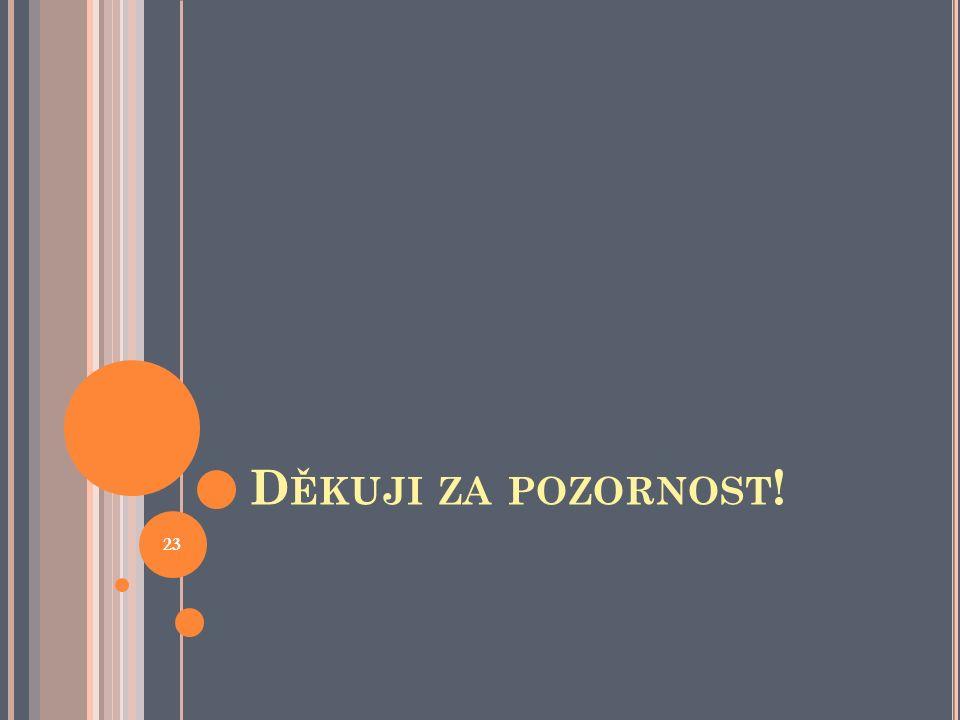 D ĚKUJI ZA POZORNOST ! 23