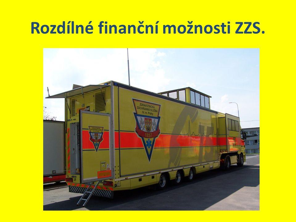 Rozdílné finanční možnosti ZZS.