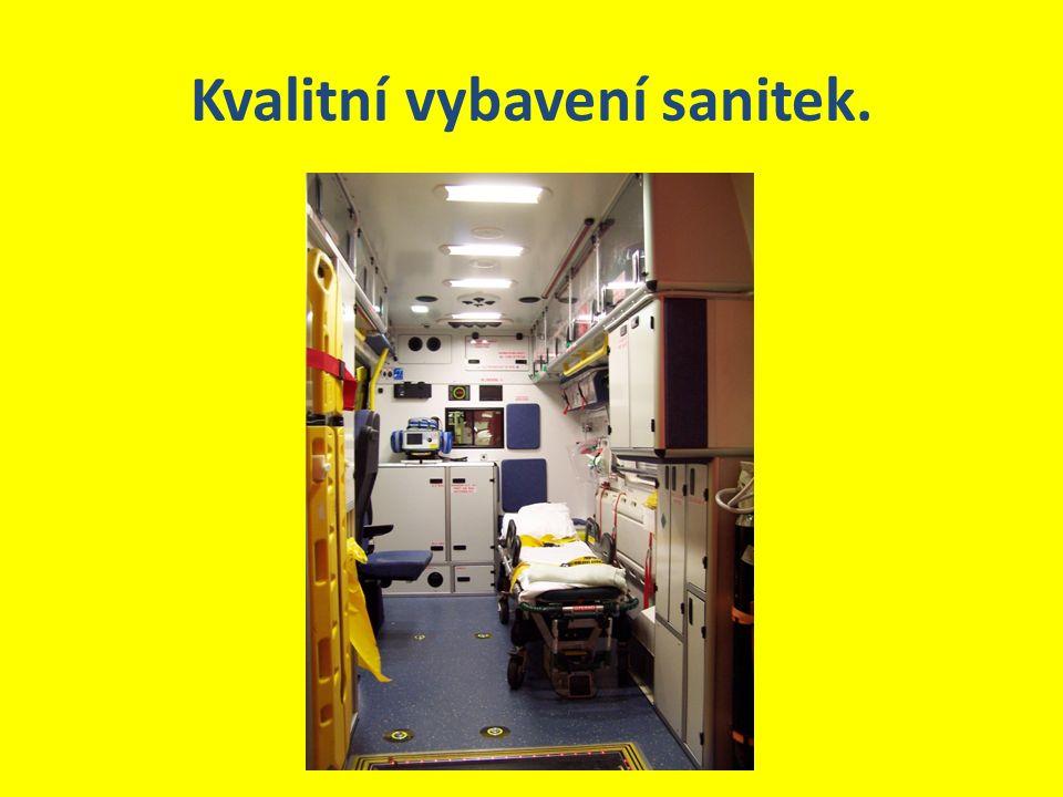Kvalitní vybavení sanitek.