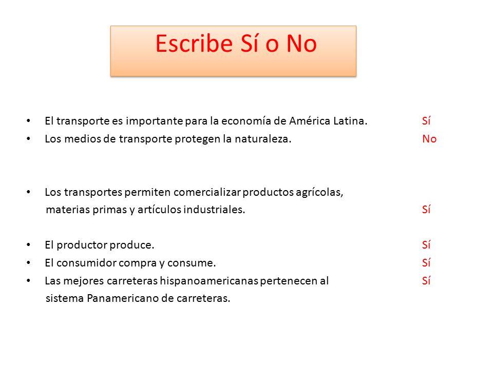 El transporte es importante para la economía de América Latina.