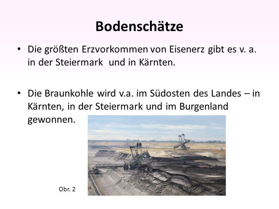 Bodenschätze Österreich ist ein Magnesitland.