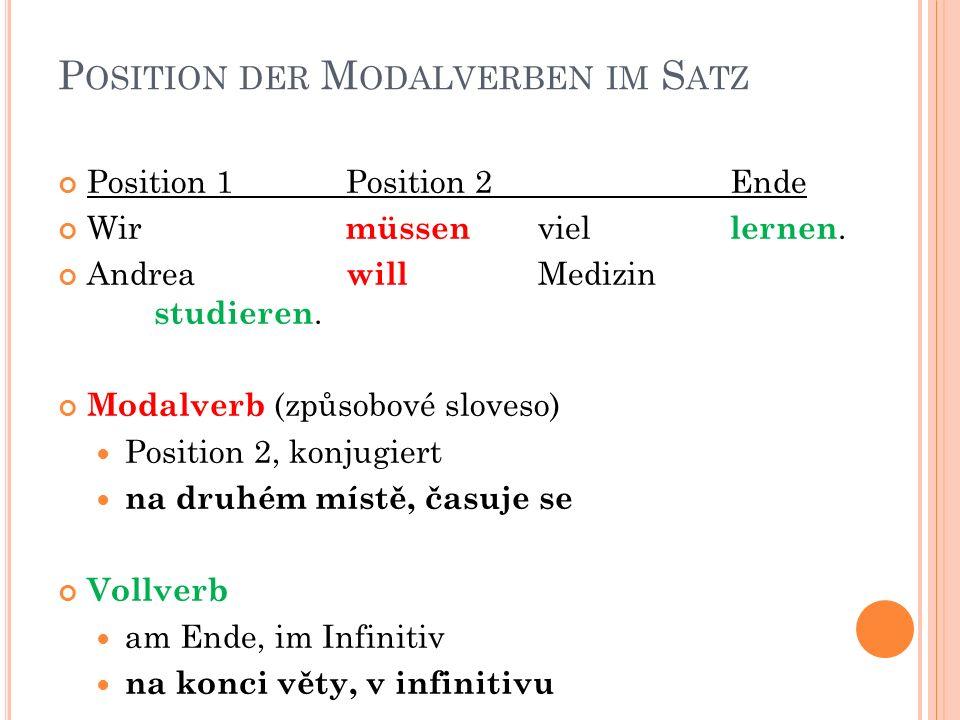 K ONJUGATION IM P RÄSENS Č ASOVÁNÍ V PŘÍTOMNÉM ČASE Singular u některých změna samohlásky 1.