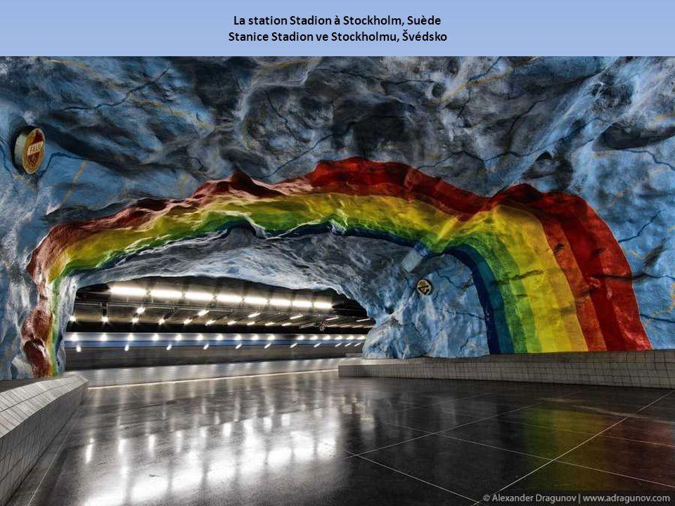 La station Stadion à Stockholm, Suède Stanice Stadion ve Stockholmu, Švédsko