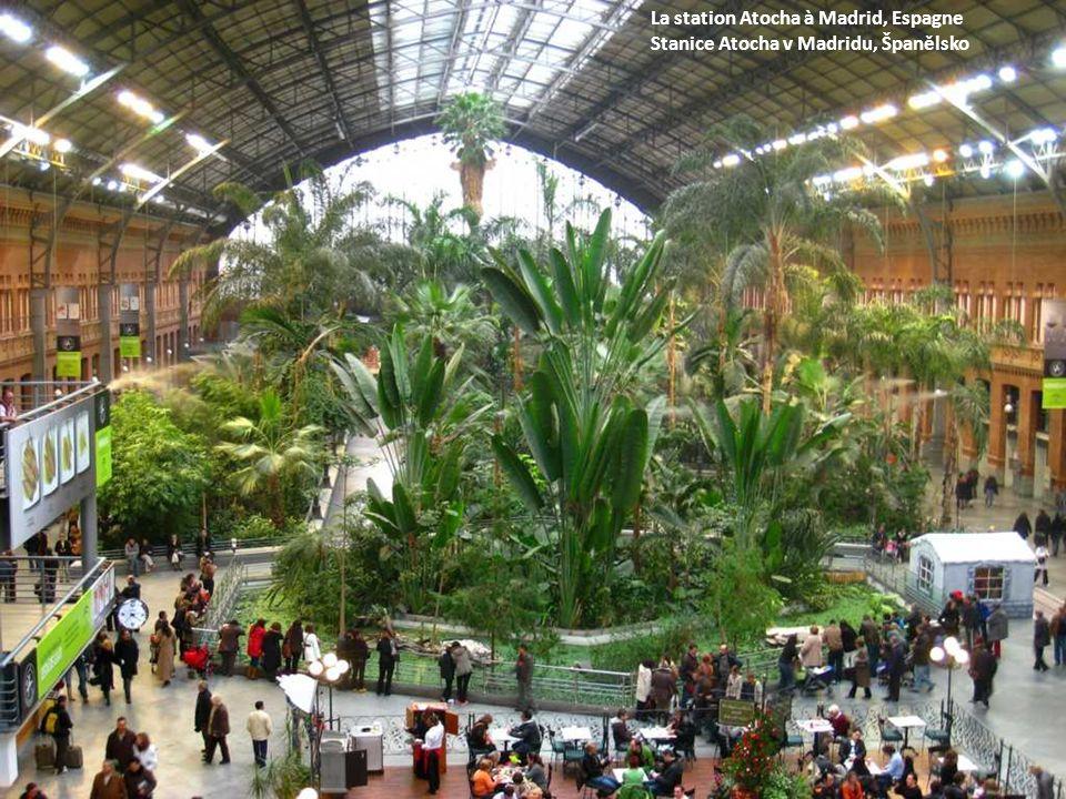 La station Atocha à Madrid, Espagne Stanice Atocha v Madridu, Španělsko