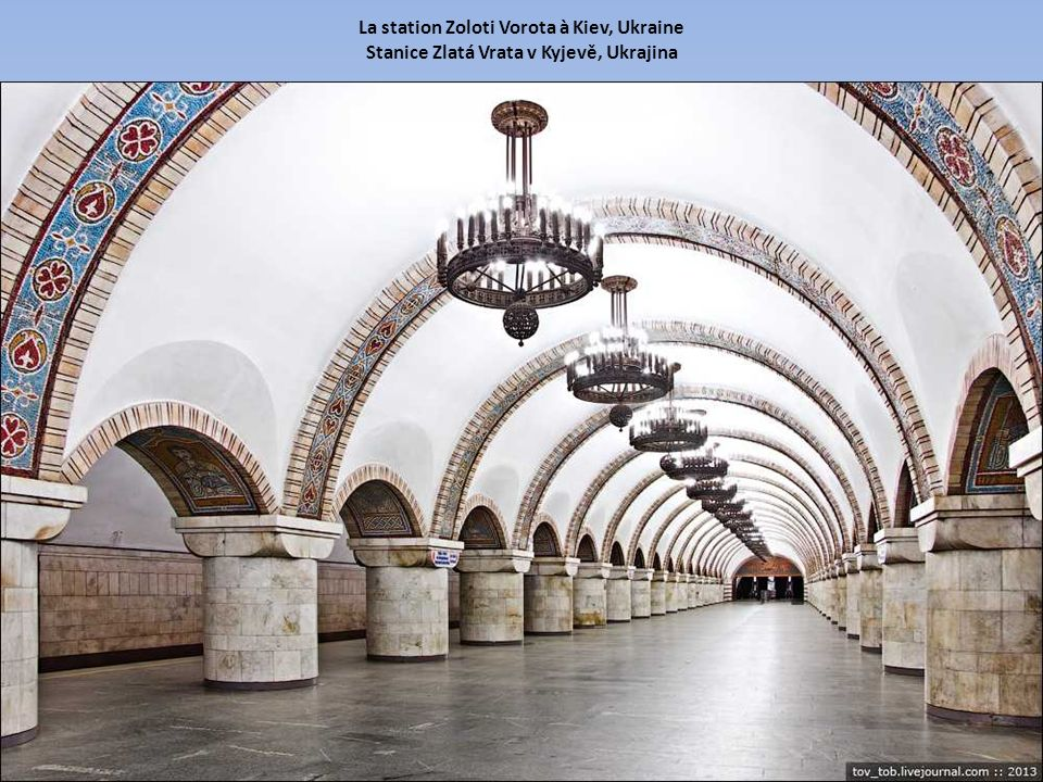 La station Zoloti Vorota à Kiev, Ukraine Stanice Zlatá Vrata v Kyjevě, Ukrajina