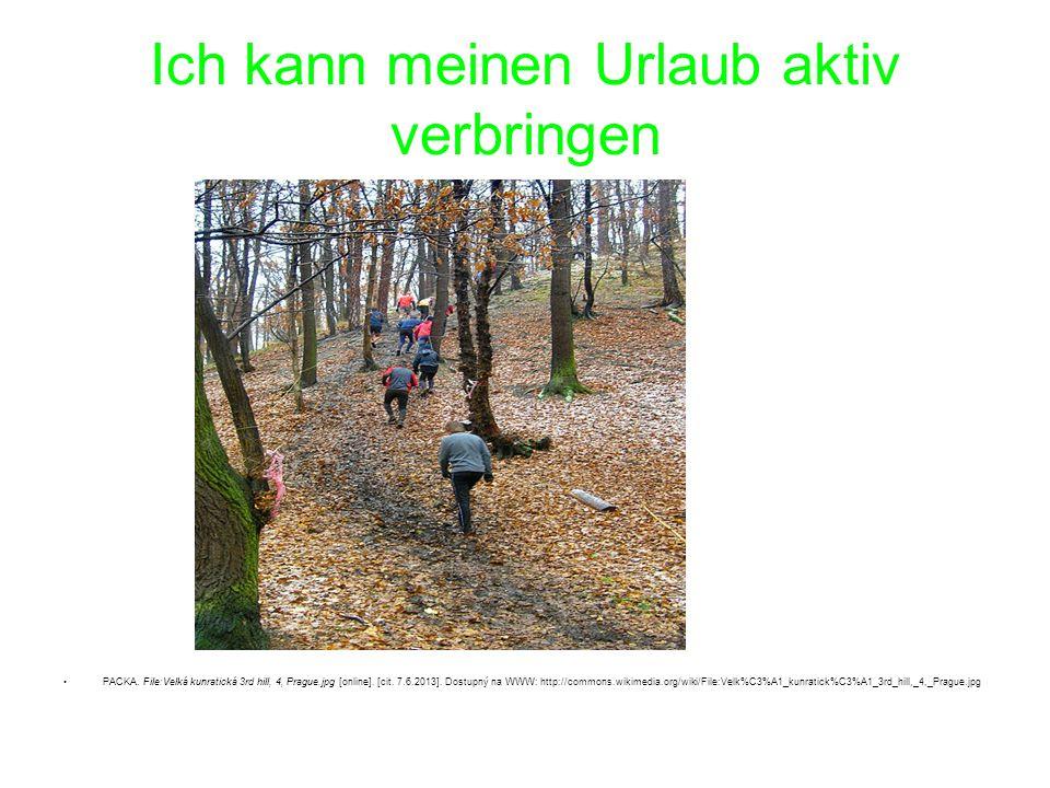 Ich kann meinen Urlaub aktiv verbringen PACKA. File:Velká kunratická 3rd hill, 4, Prague.jpg [online]. [cit. 7.6.2013]. Dostupný na WWW: http://common