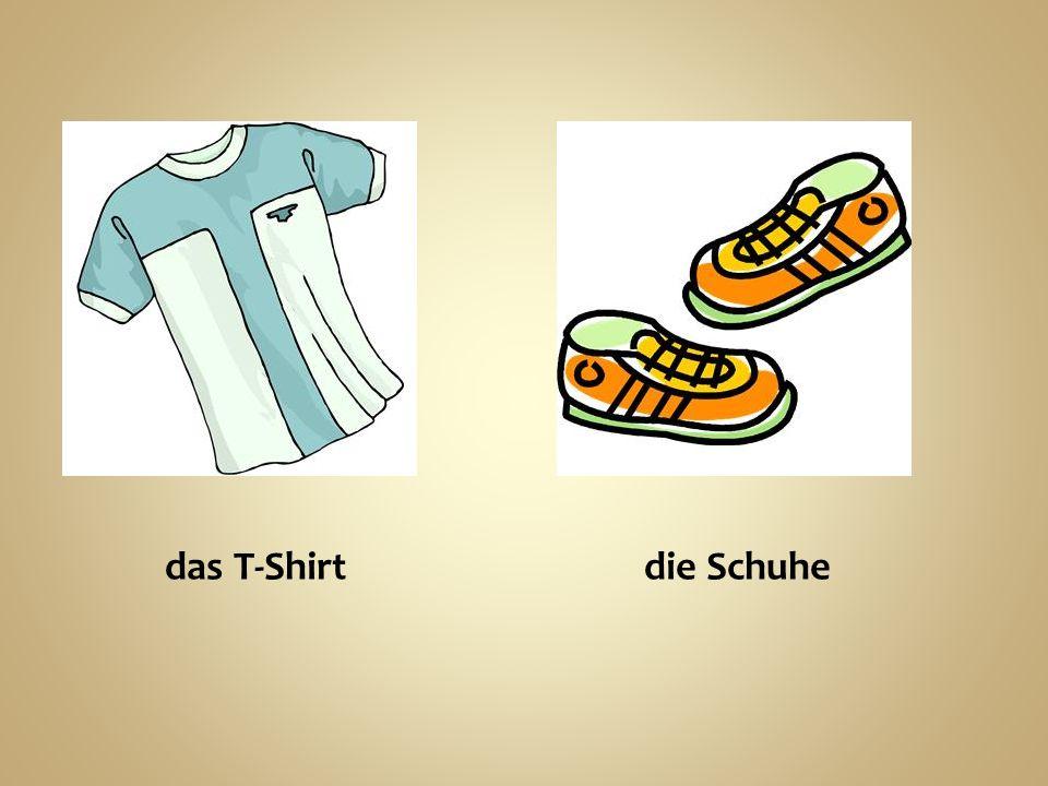 das T-Shirt die Schuhe