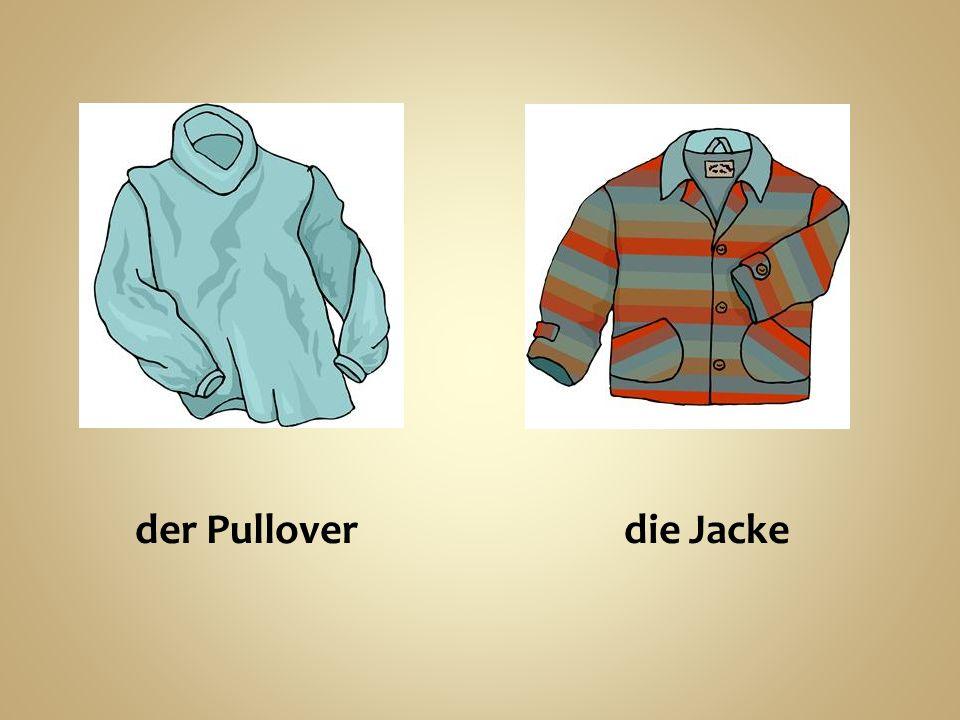 der Pullover die Jacke