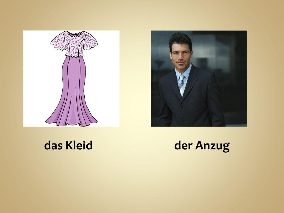 das Kleid der Anzug