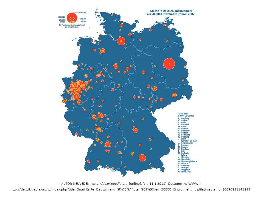 AUTOR NEUVEDEN. http://de.wikipedia.org [online]. [cit. 11.1.2013]. Dostupný na WWW: http://de.wikipedia.org/w/index.php?title=Datei:Karte_Deutschland