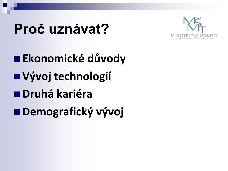 Proč uznávat? Ekonomické důvody Vývoj technologií Druhá kariéra Demografický vývoj