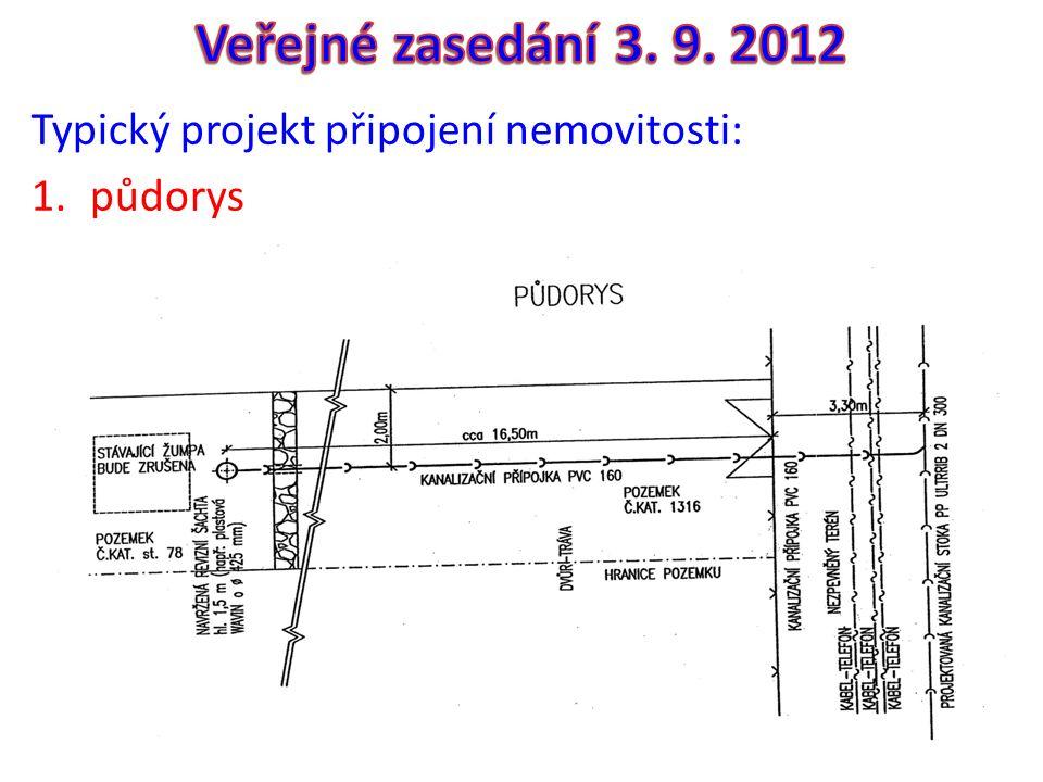 Typický projekt připojení nemovitosti: 1.půdorys