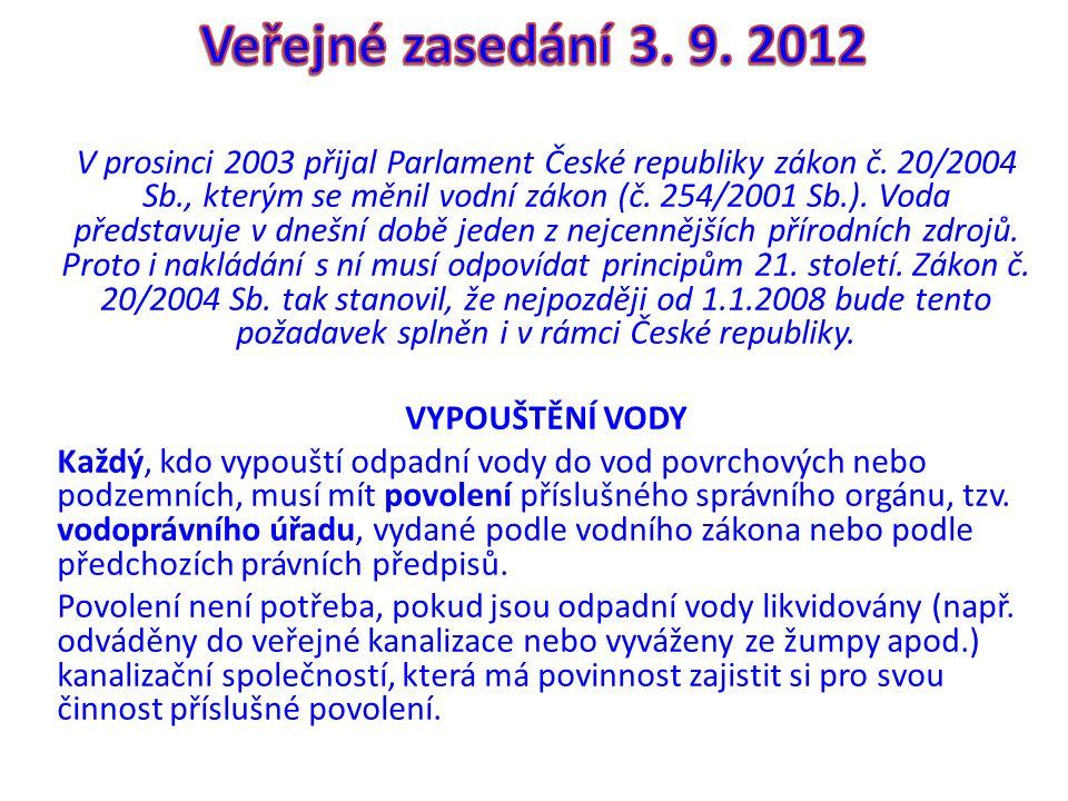 V prosinci 2003 přijal Parlament České republiky zákon č.