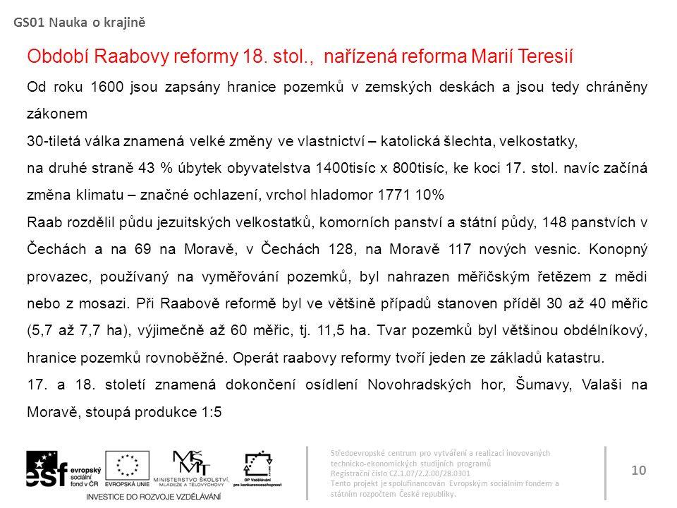 Středoevropské centrum pro vytváření a realizaci inovovaných technicko-ekonomických studijních programů Registrační číslo CZ.1.07/2.2.00/28.0301 Tento