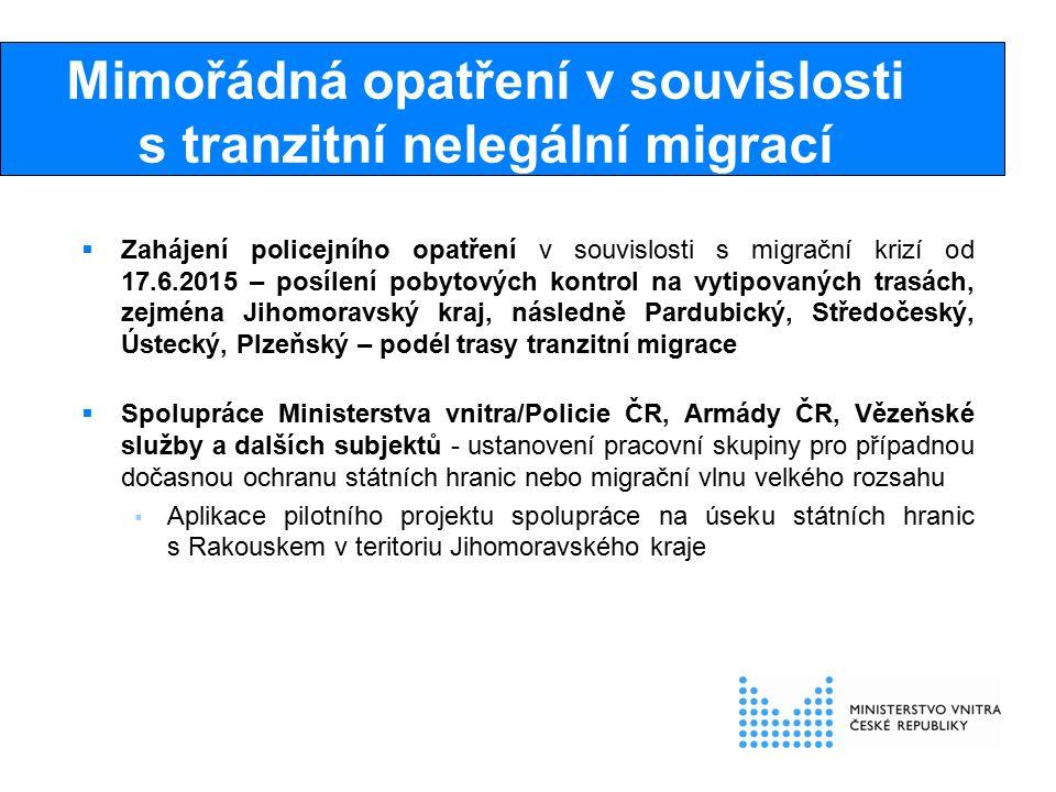 Procedura zajišťování a propouštění cizinců  Každá osoba, která nelegálně pobývá na území ČR musí být zadržena a příp.