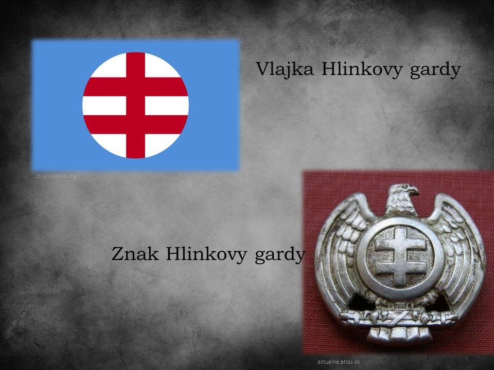 Vlajka Hlinkovy gardy cs.wikipedia.org Znak Hlinkovy gardy aktualne.atlas.sk