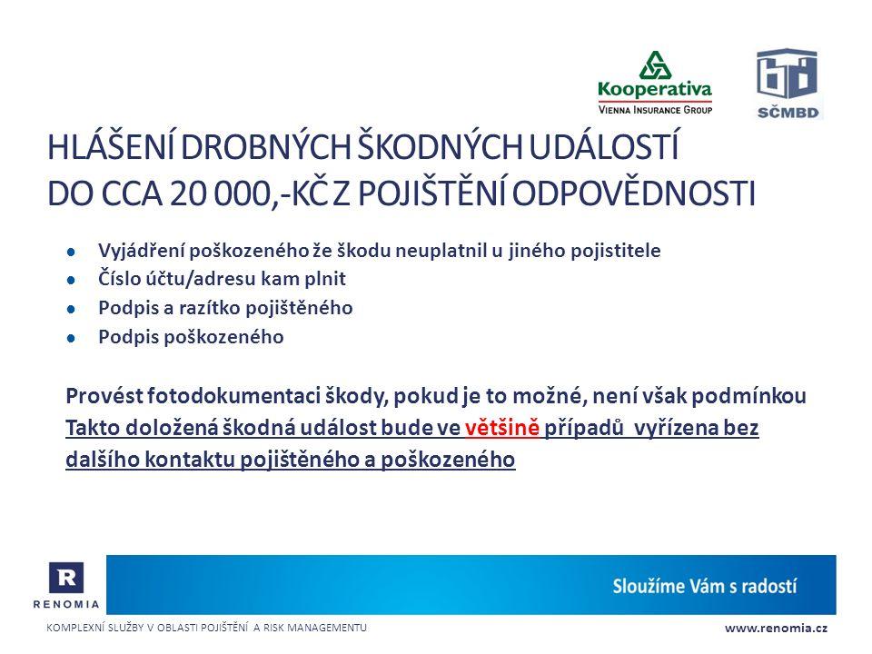 www.renomia.cz KOMPLEXNÍ SLUŽBY V OBLASTI POJIŠTĚNÍ A RISK MANAGEMENTU Příklady, zkušenosti, diskuse Děkujeme za pozornost