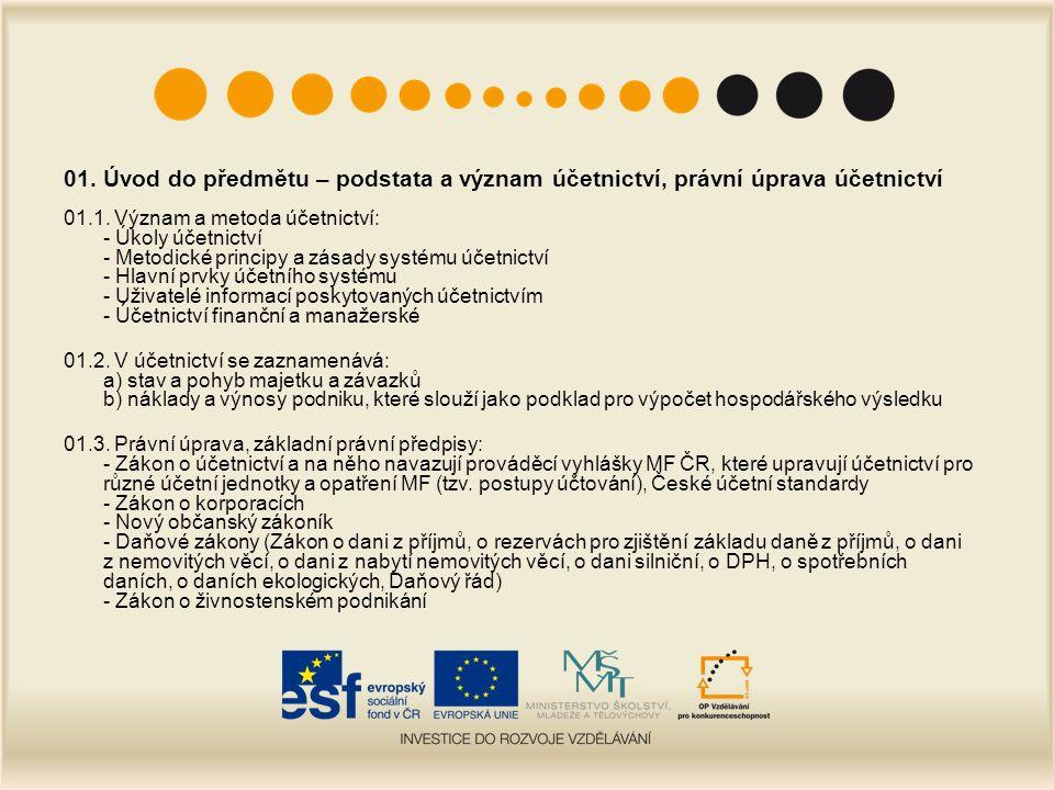 07.Základní účtování krátkodobého finančního majetku 07.1.