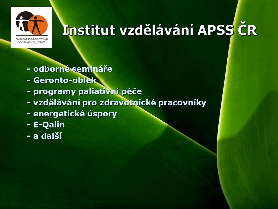 5 - odborné semináře - odborné semináře - Geronto-oblek - Geronto-oblek - programy paliativní péče - programy paliativní péče - vzdělávání pro zdravotnické pracovníky - vzdělávání pro zdravotnické pracovníky - energetické úspory - energetické úspory - E-Qalin - E-Qalin - a další - a další