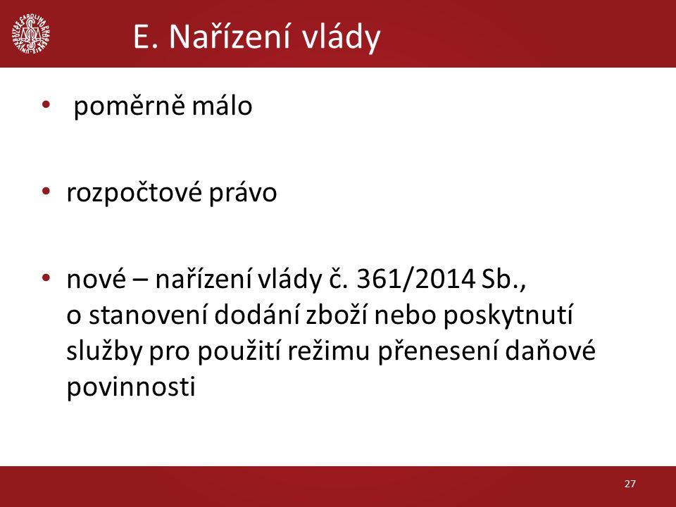 poměrně málo rozpočtové právo nové – nařízení vlády č.