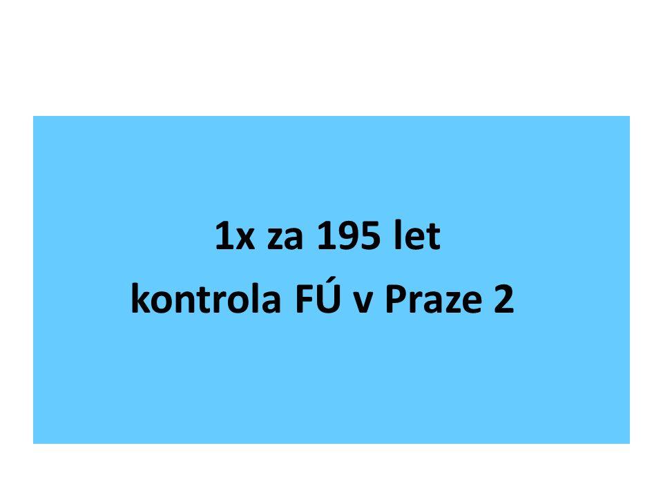 1x za 195 let kontrola FÚ v Praze 2