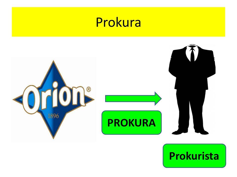 Prokura PROKURA Prokurista