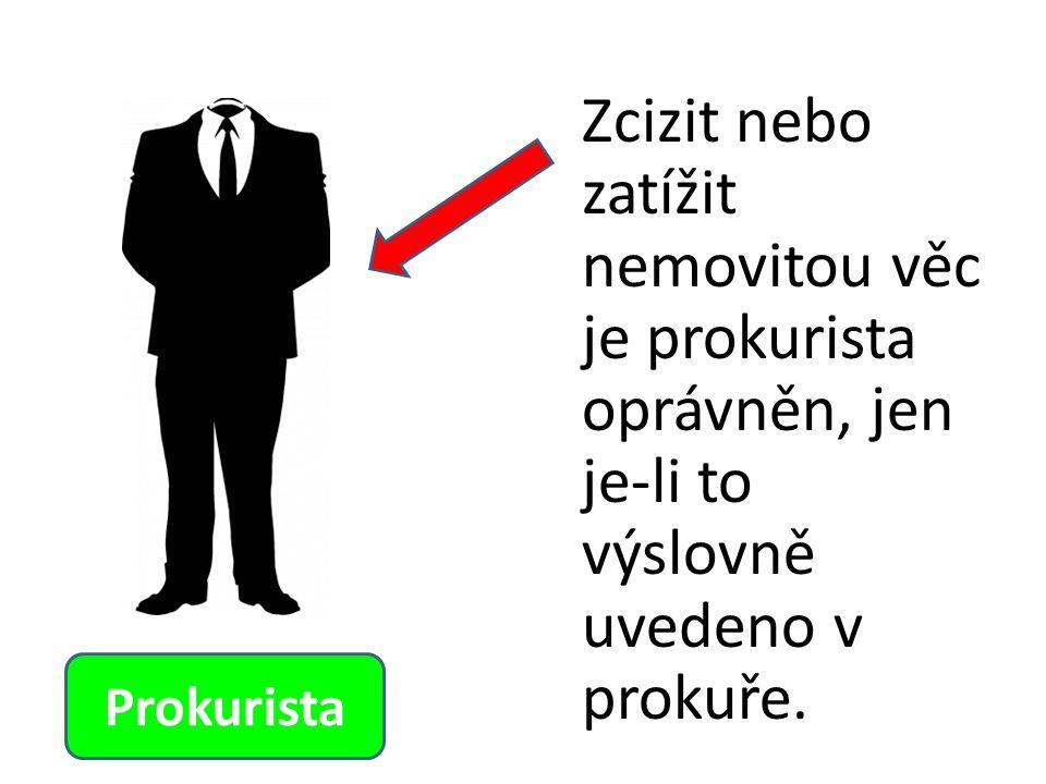 Zcizit nebo zatížit nemovitou věc je prokurista oprávněn, jen je-li to výslovně uvedeno v prokuře.