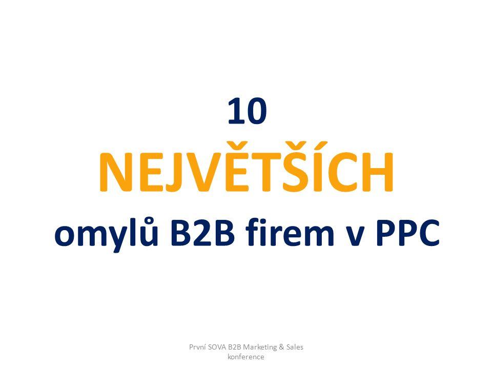 # 7 Reklama na sociálních sítích? Ale prosím Vás… První SOVA B2B Marketing & Sales konference