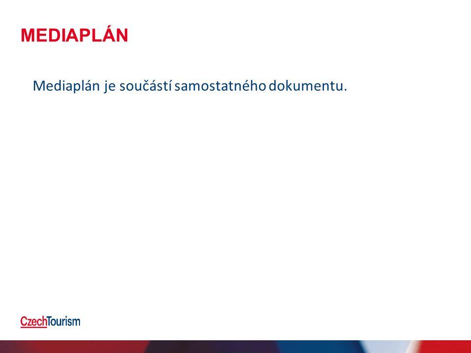 MEDIAPLÁN Mediaplán je součástí samostatného dokumentu.
