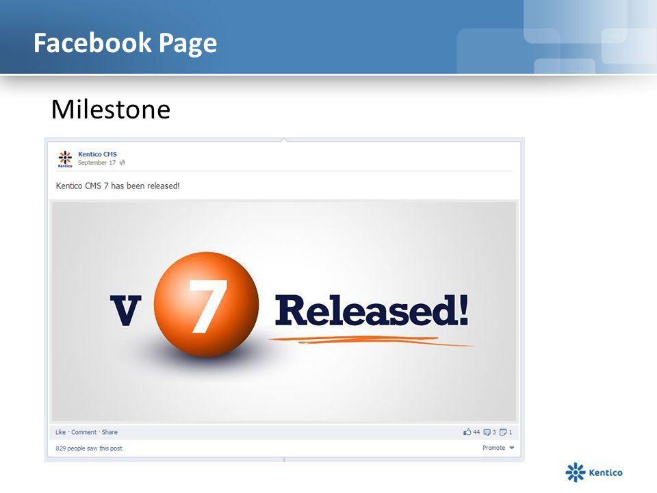 Facebook Page Milestone