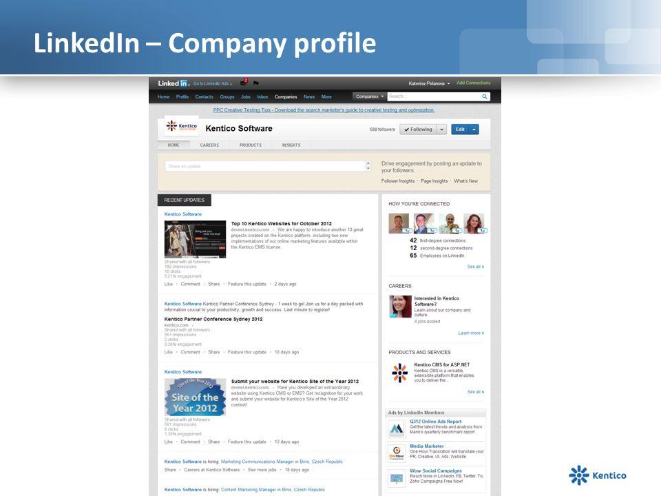 LinkedIn – Company profile