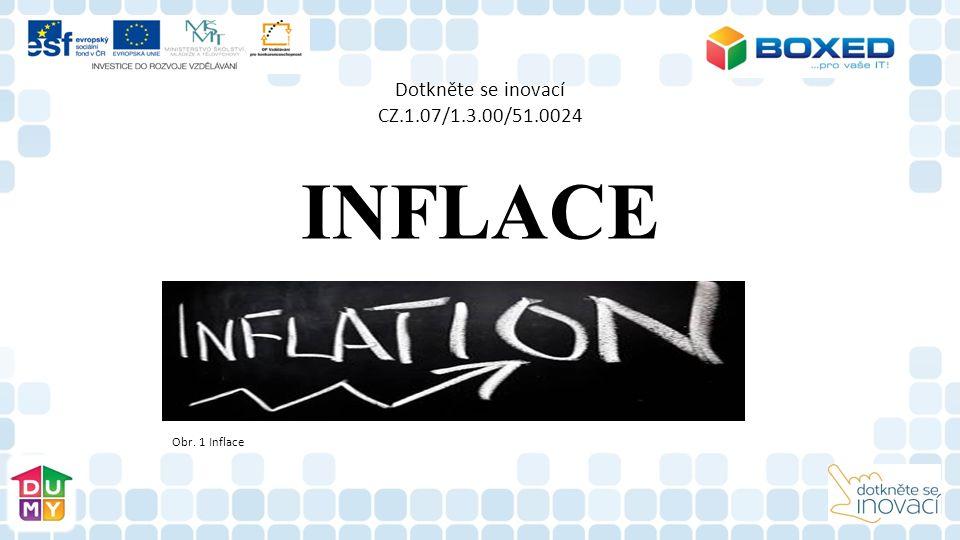 Dotkněte se inovací CZ.1.07/1.3.00/51.0024 INFLACE Obr. 1 Inflace