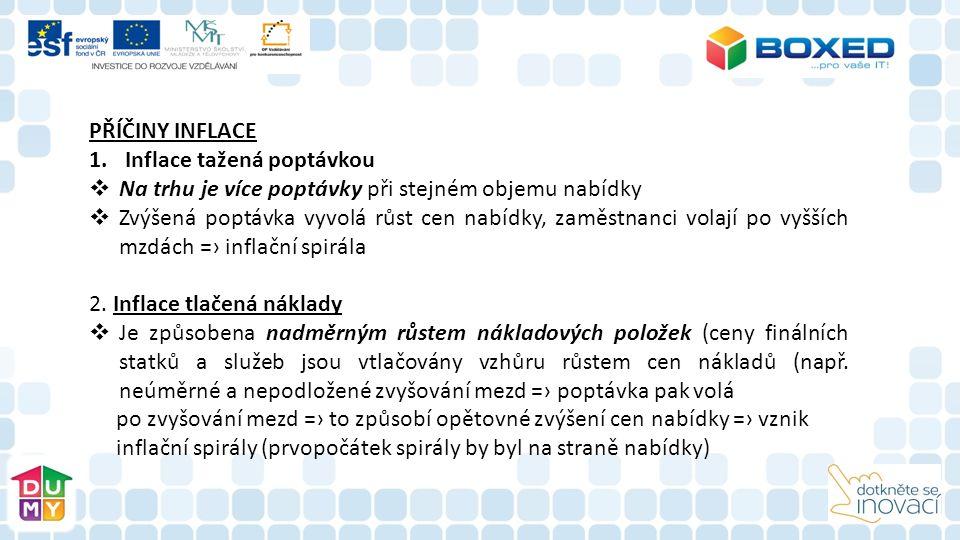 INFLACE  Je makroekonomický pojem a měří se pomocí tzv.