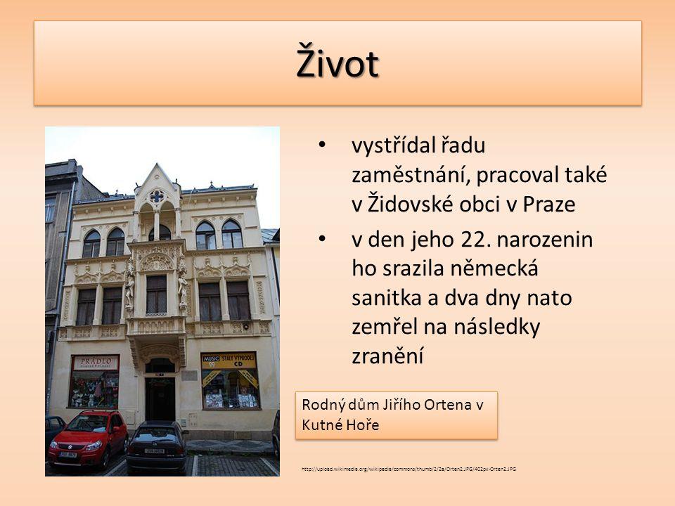 ŽivotŽivot vystřídal řadu zaměstnání, pracoval také v Židovské obci v Praze v den jeho 22.