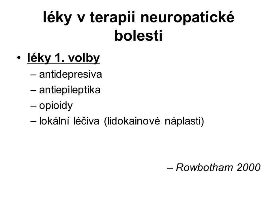léky v terapii neuropatické bolesti léky 1.