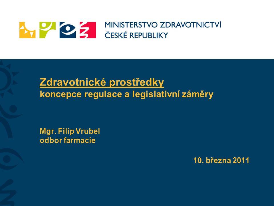 Zdravotnické prostředky koncepce regulace a legislativní záměry Mgr.